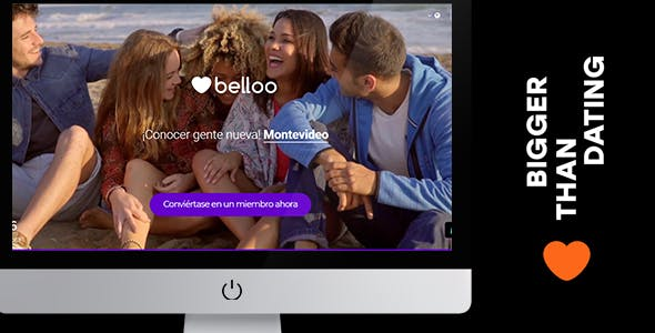 Video BG Landing - Belloo Dating Software
