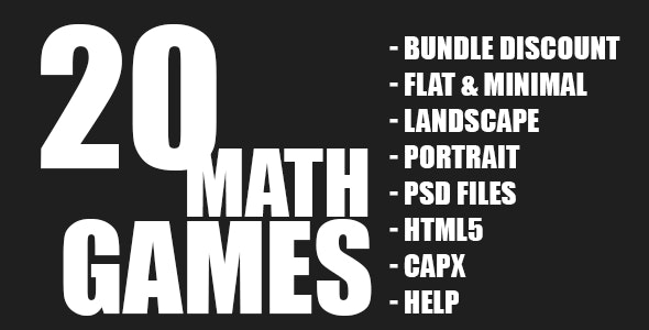 20 Math Games Bundle Collection - CodeCanyon Item for Sale