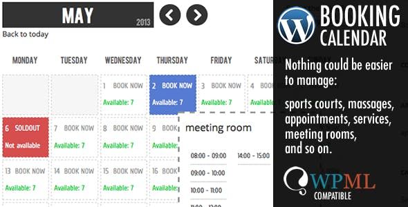 WP Booking Calendar        Nulled