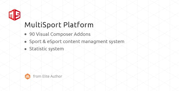 MSP - MultiSport & eSport WordPress plugin with 90 Visual Composer addons