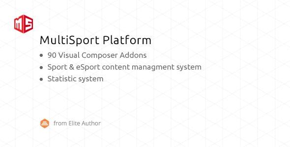 MSP v4.1.19 – MultiSport & eSport WordPress plugin with 90 Visual Composer addons