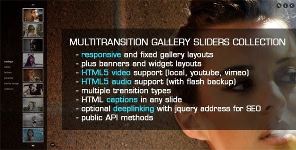 jQuery MultiTransition Gallery Sliders Collection        Nulled