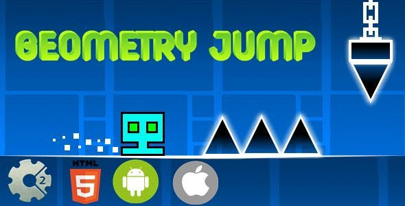 Geometry Jump - HTML5 Mobile Game (Capx)