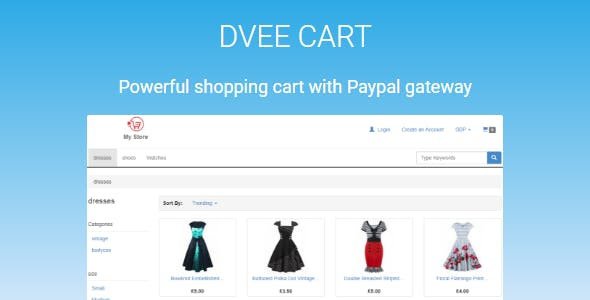 Dvee Cart: E-commerce with Paypal