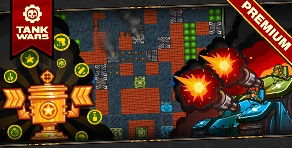 Tank Wars - HTML5 Game 120 Levels + Level Constructor + Mobile! (Construct 3 | Construct 2 | Capx) - CodeCanyon Item for Sale