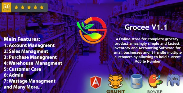 Grocee - Complete Grocery store Backend with Telecaller - CodeCanyon Item for Sale