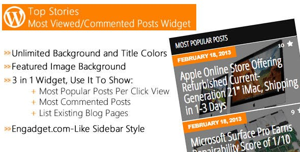 Top Stories - Most Popular Posts Widget