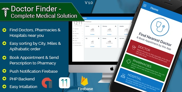 Doctor Finder - Complete Medical Solution IOS Application - CodeCanyon Item for Sale