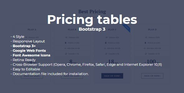 SLD Pricing Tables