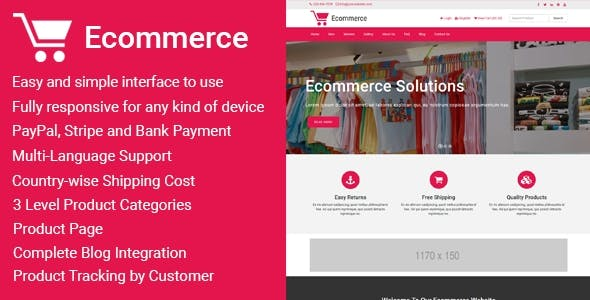Ecommerce - Responsive Ecommerce Business Management Script