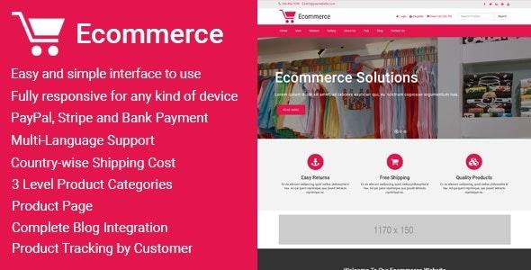 Ecommerce - Responsive Ecommerce Business Management Script - CodeCanyon Item for Sale