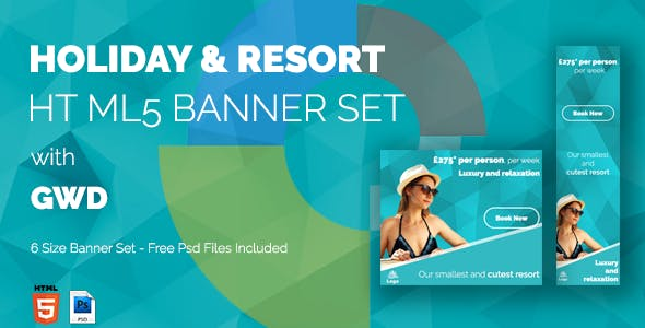 HOLIDAY & RESORT HTML5 Web Banner Ad Templates with GWD