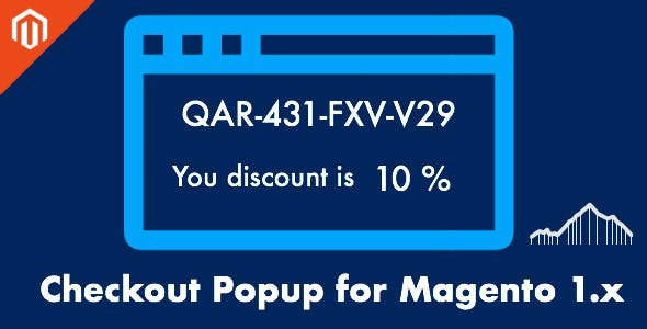 Coupon Popup - Get Coupon Code with Discount for the Next Order Magento 1