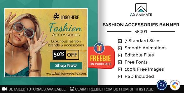 Shopping & E-commerce | Fashion Accessories Banner (SE001)