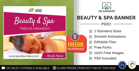 Professional Services | Beauty & Spa Banner (PS001)