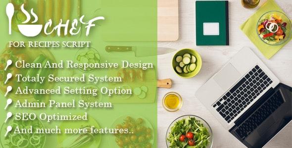 I-Chef – Recipes Script