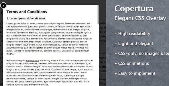 Copertura – Elegant CSS Overlay