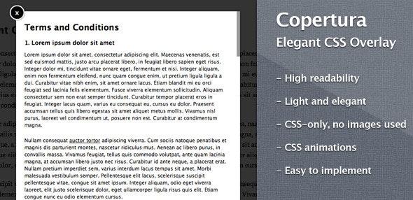 Copertura – Elegant CSS Overlay - CodeCanyon Item for Sale