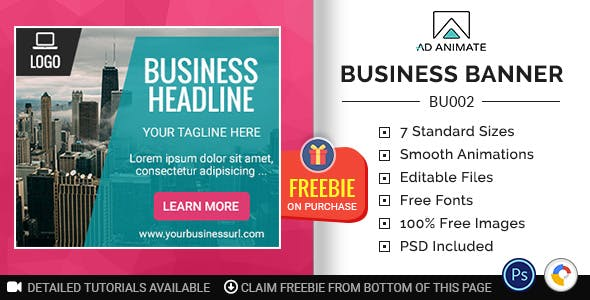 Business Banner - HTML5 Ad Template (BU002)