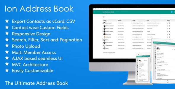 Ion Address Book - CodeCanyon Item for Sale
