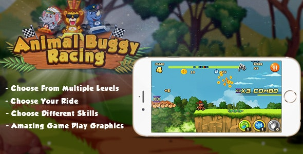 Animal Buggy Racing Unity 3D   Chatboost   iOS11   Android - CodeCanyon Item for Sale