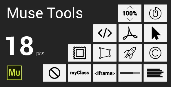 Muse Tools 18 pcs. widgets - CodeCanyon Item for Sale