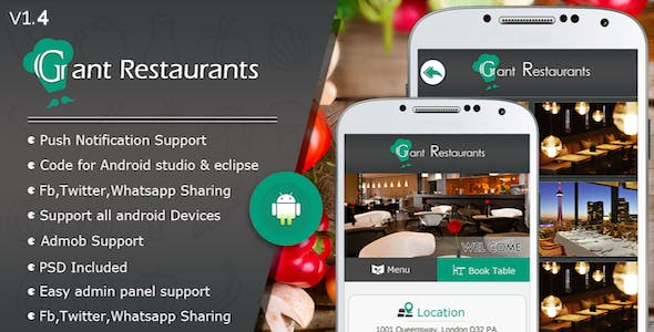 Food Delivery System for Restaurant with backend Android Full Application