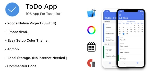 TODO App - iOS App For Task List (Local Storage) - CodeCanyon Item for Sale