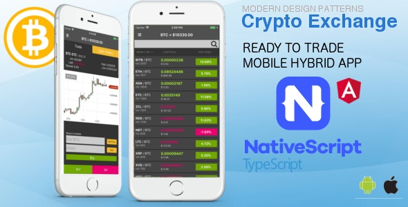 Crypto Exchange Mobile Hybrid App - Traders App - CodeCanyon Item for Sale