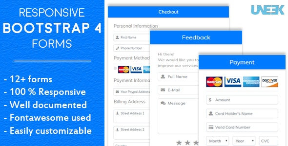 Responsive Bootstrap 4 Forms by UNEEKcc1 | CodeCanyon