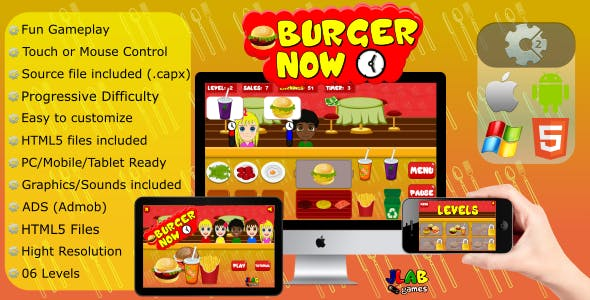 Burger Now - CAPX (Mobile and HTML5)