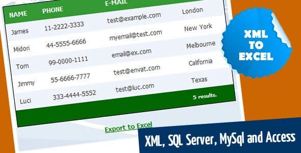 XML to Excel