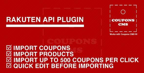 Rakuten Plugin for Coupons CMS - CodeCanyon Item for Sale