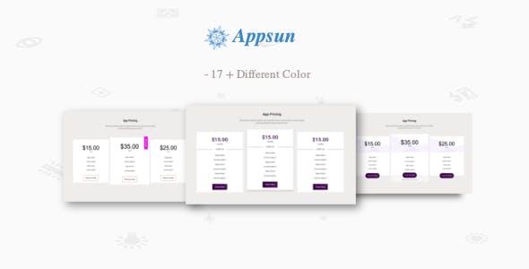 appsun - Pure CSS Showcase