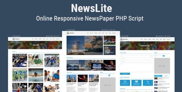 NewsLite - Online Responsive NewsPaper CMS