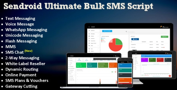 Sendroid Ultimate - SMS, WhatsApp & Voice Messaging Script