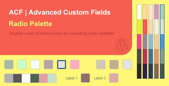 ACF Palette Field (Color Swatches) - CodeCanyon Item for Sale