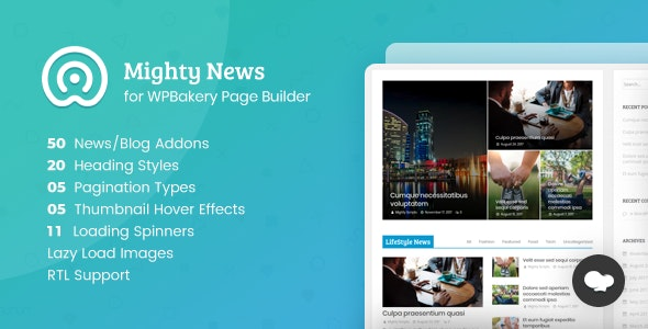 Mighty News Addons for WPBakery Page Builder (formerly Visual Composer) - CodeCanyon Item for Sale
