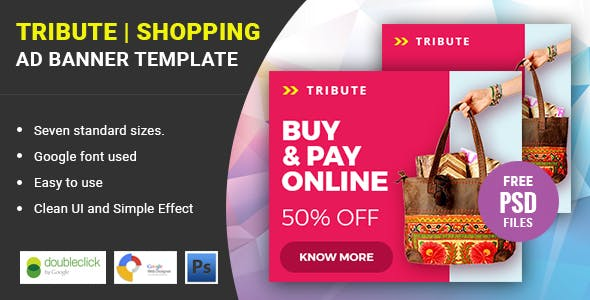 Tribute Shopping | HTML 5 Animated Google Banner