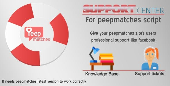 Support Center - for peepmatches script