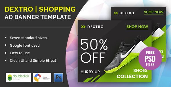 Dextro Shoes Shopping | HTML 5 Animated Google Banner