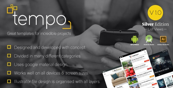 Tempo (Silver Edition) Great templates for incredible projects - CodeCanyon Item for Sale
