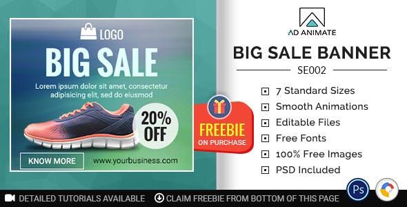 Shopping & E-commerce | Big Sale Banner (SE002)