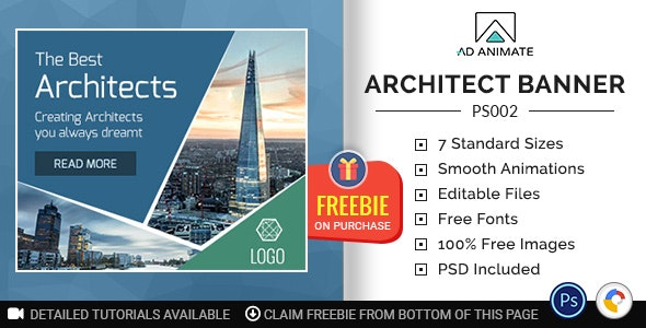 Professional Services | Architect Banner (PS002) - CodeCanyon Item for Sale