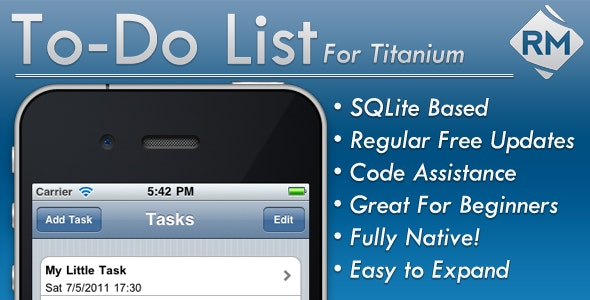 To-Do App for Titanium by rmwebs | CodeCanyon
