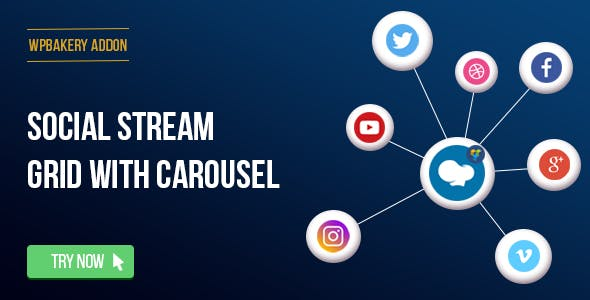 WPBakery Page Builder - Social Streams With Carousel (formerly Visual Composer)