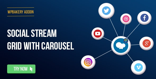 WPBakery Page Builder - Social Streams With Carousel (formerly Visual Composer) - CodeCanyon Item for Sale