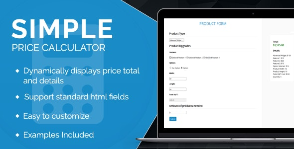 Simple Price Calculator - CodeCanyon Item for Sale