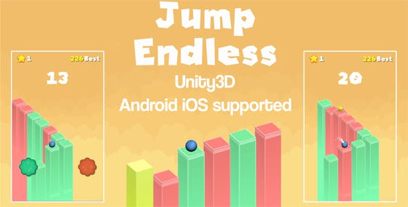 Jump Endless Unity3D Source Code + Android iOS Supported + Ready to Release