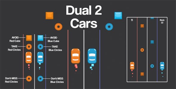 2 Cars Dual Unity3D Source Code + Android iOS Supported + Ready to Release